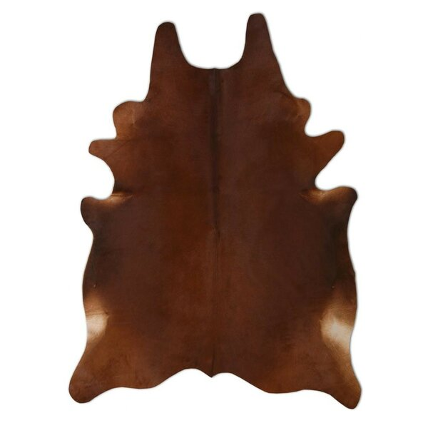 Natural Cowhide Chestnut Area Rug by Pure Rugs
