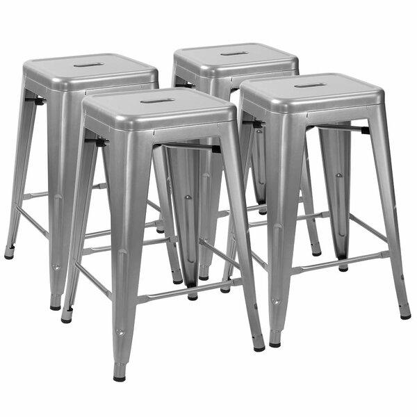 Tremendous Brushed Nickel Bar Stools Wayfair Customarchery Wood Chair Design Ideas Customarcherynet