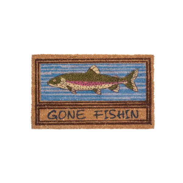 Gone Fishin Doormat by Coco Mats N More