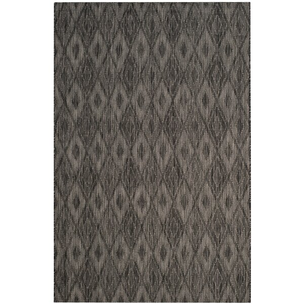 Lefferts Black Indoor/Outdoor Area Rug by Wrought Studio