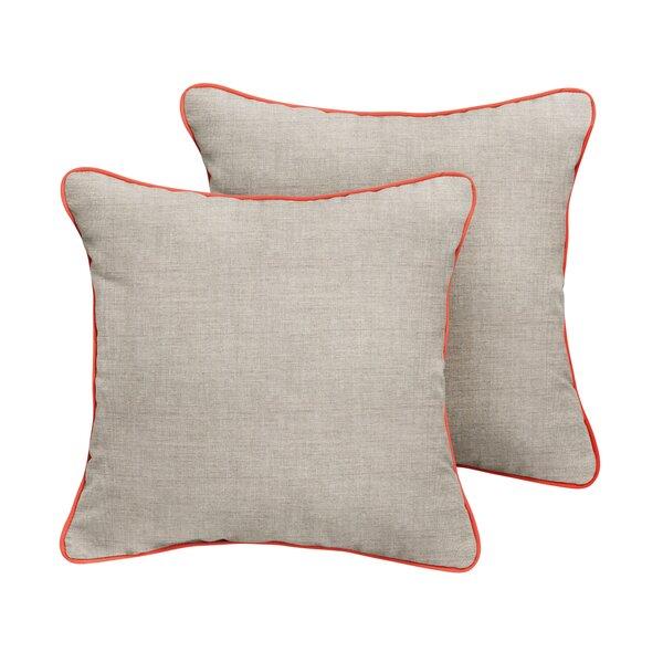Manchester Sunbrella Cast Outdoor Throw Pillow (Set of 2) by Rosecliff Heights
