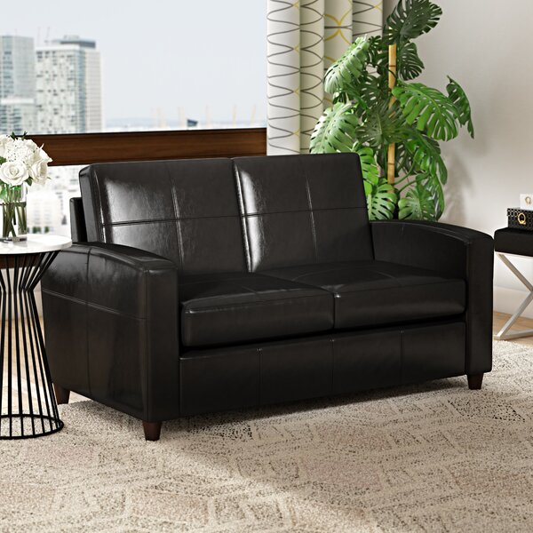 Buy Online Discount Caswell Wilmot Leather Loveseat by Latitude Run by Latitude Run