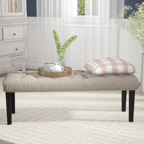 Seapine Upholstered Bench By Charlton Home.
