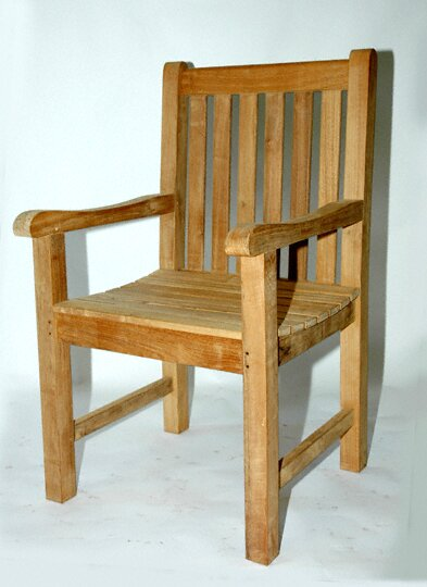 Annagrove Teak Patio Dining Chair by Longshore Tides