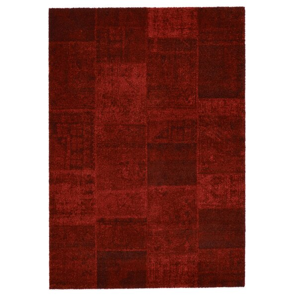 Downtown Red Area Rug by Rug Modern