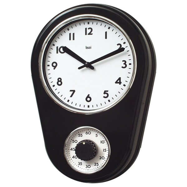 8.5 Kitchen Timer Retro Modern Wall Clock by Bai Design