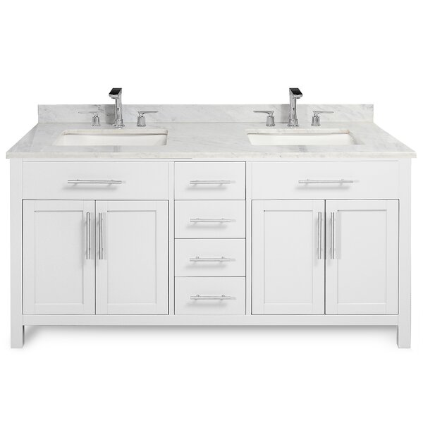 Vanleer 60 Double Bathroom Vanity Set by Wrought Studio