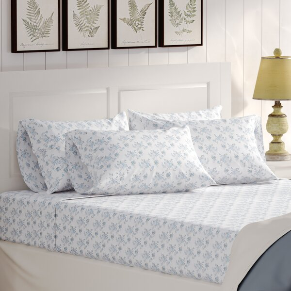 Albright 6 Piece Comfort Wash Cotton Sheet Set by Lark Manor