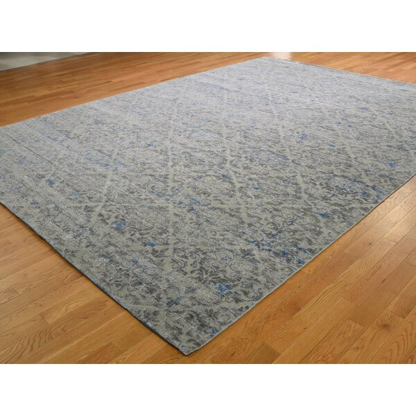 One-of-a-Kind Kameron Hand-Knotted Gray 9'8 x 13'6 Area Rug