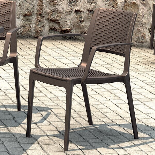 Ramseur Stacking Patio Dining Chair (Set Of 2) By Brayden Studio