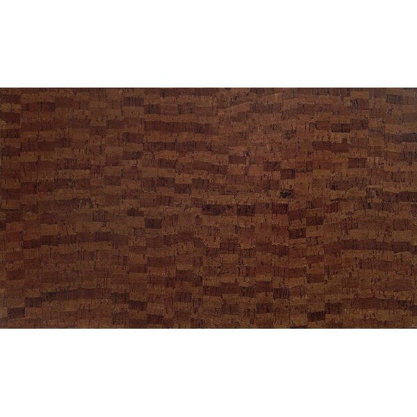 Plank 7 Cork Flooring in Brown Fuse by APC Cork