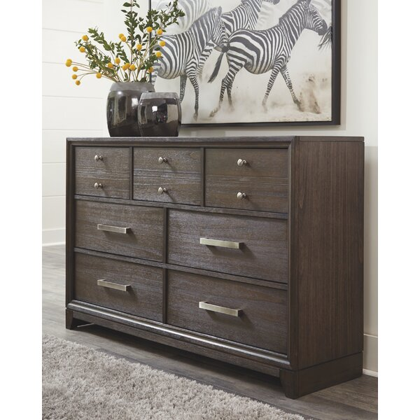 Wafrt 7 Drawer Double Dresser With Mirror By Red Barrel Studio by Red Barrel Studio 2020 Online