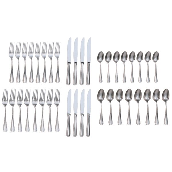 Rybicki 40-Piece 18/10 Stainless Steel Flatware Set by Charlton Home