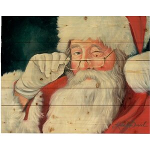 'With a Wink Santa Claus' by Kimberly Daniel Painting Print on Plaque by Hadley House Co