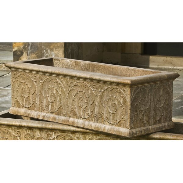 Vernetta Rectangular Cast Stone Planter Box by Darby Home Co