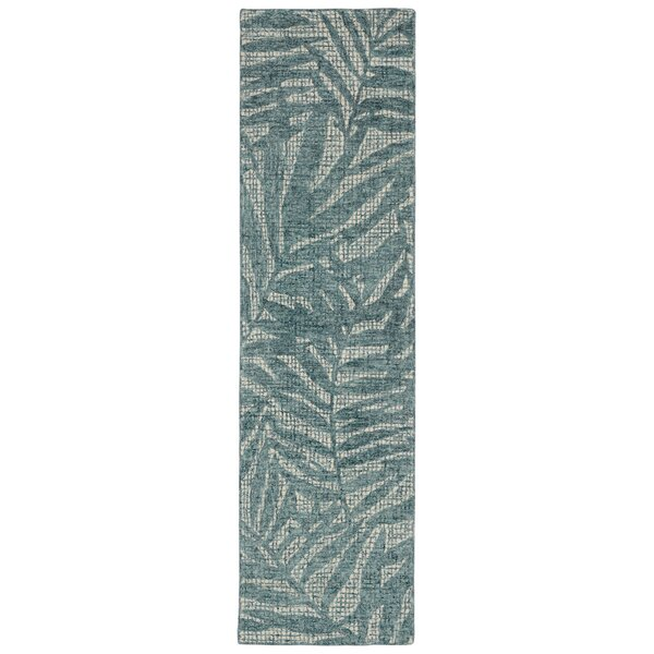Claremont Olive Branches Hand-Woven Wool Gray Area Rug by Bay Isle Home