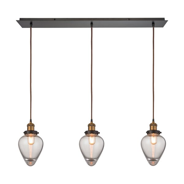 Cyprien 3-Light Kitchen Island Pendant by 17 Stories