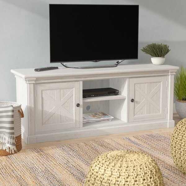 Jacey Solid Wood TV Stand For TVs Up To 65