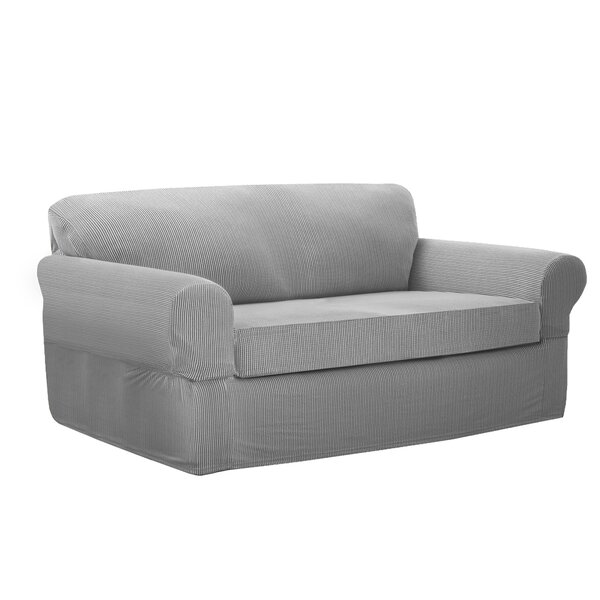 Connor Stretch Box Cushion Loveseat Slipcover by Maytex