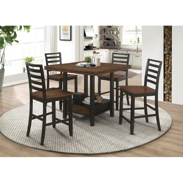Oretta 5 Piece Counter Height Dining Set by Gracie Oaks Gracie Oaks