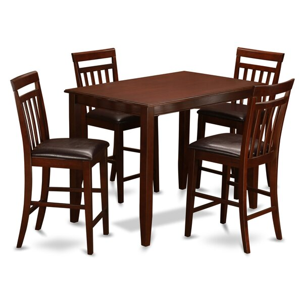 Buckland 5 Piece Counter Height Dining Set by East West Furniture