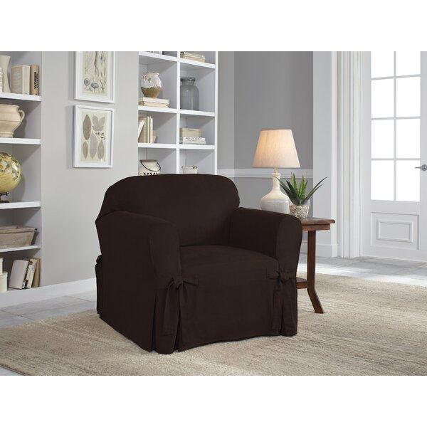 Box Cushion Armchair Slipcover by Serta