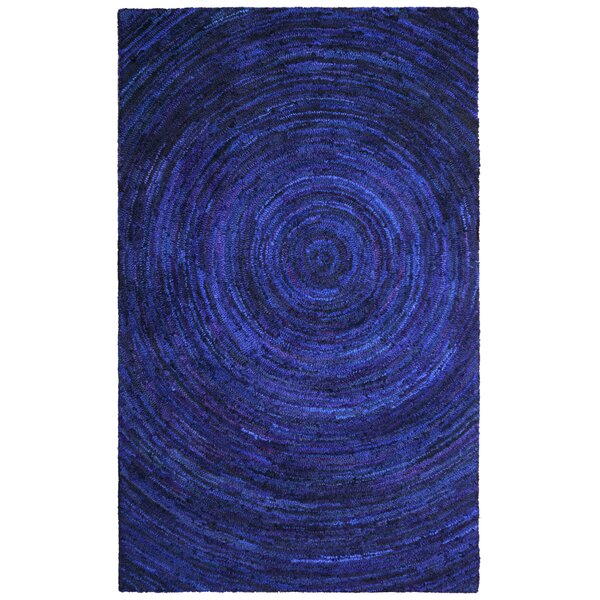 Sandford Hurricane Hand-Tufted Blue Area Rug by Bungalow Rose