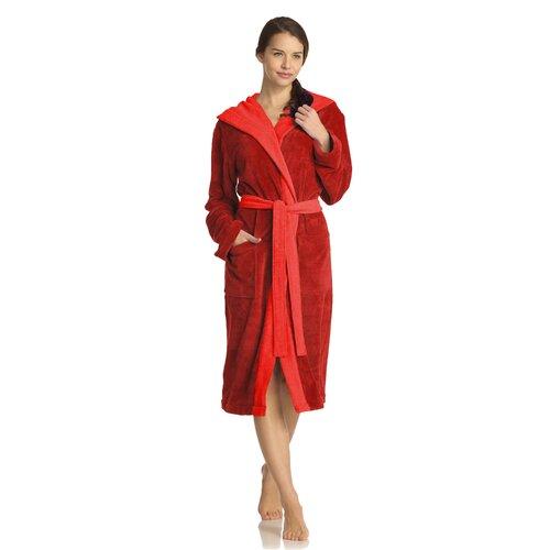 Bademantel Poppy Vossen Farbe: Red| Größe: Extra Large (XL) | Bad > Sauna & Zubehör > Sauna-Textilien | Vossen