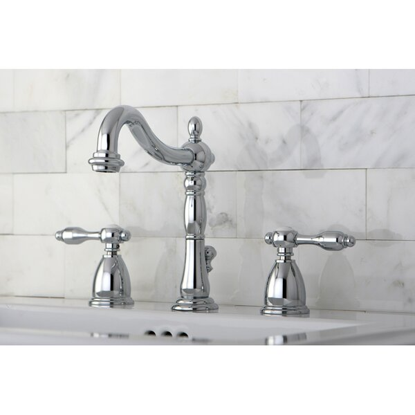 Tudor Widespread Bathroom Faucet with ABS Pop-Up Drain by Kingston Brass