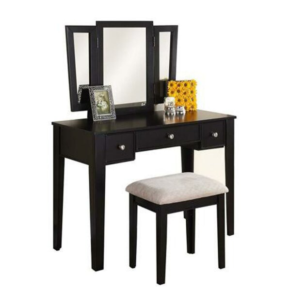 Robillard Vanity Set with Mirror by Astoria Grand
