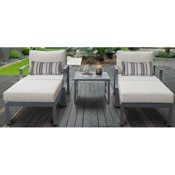 Benner Outdoor Aluminum 5 Piece Sectional Seating Group with Cushions by Ivy Bronx