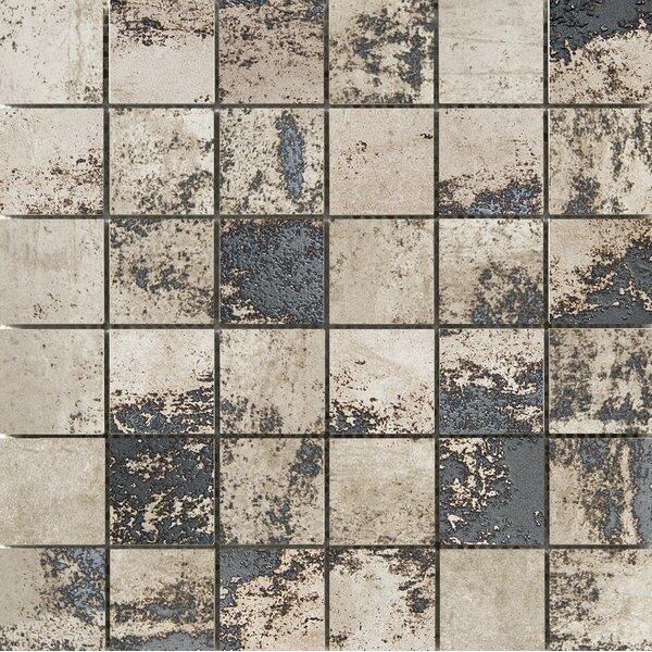 Chemistry 2 x 2 Porcelain Metal Look Tile in Taupe by Emser Tile