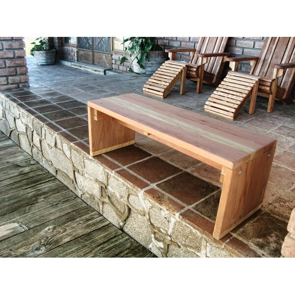 Montserrat Wooden Pinic Bench by Rosecliff Heights