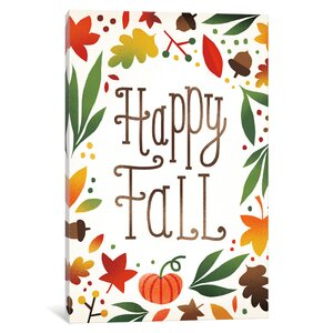 'Harvest Time Series: Happy Fall' Textual Art on Canvas by East Urban Home