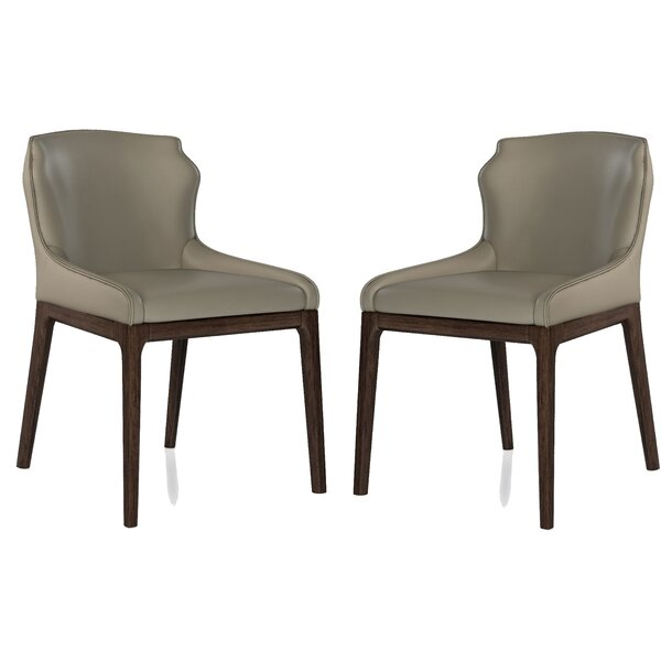 Few Genuine Leather Upholstered Dining Chair (Set of 2) by Brayden Studio