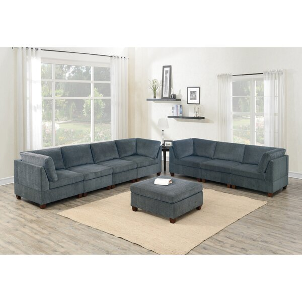 Karlotta Reversible Modular Sectional With Ottoman By Ebern Designs