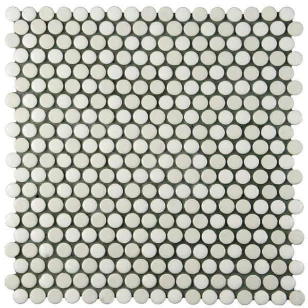 Astraea 0.62 x 0.62 Porcelain Mosaic Tile in White by EliteTile