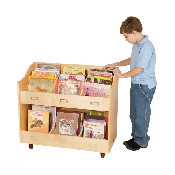 6 Compartment Book Display with Casters by Guidecraft