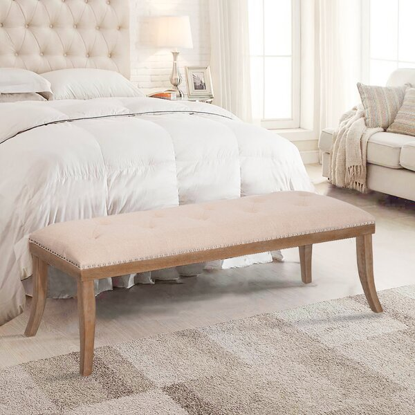 Nimmons Wood Bench by Ophelia & Co.