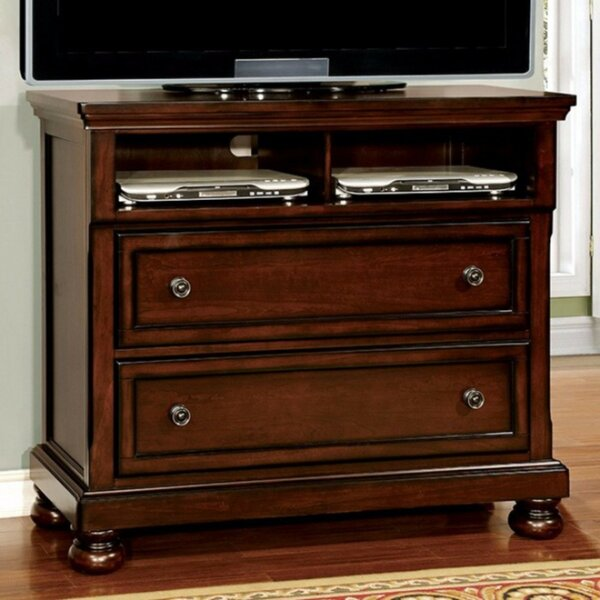 Erbe Wooden Media 2 Drawer Standard Dresser by Darby Home Co