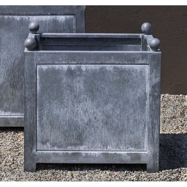 Han Zinc Dipped Steel Planter Han by Darby Home Co