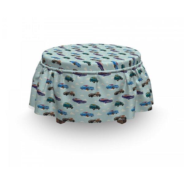 Cars Abstarct Design Retro Ride 2 Piece Box Cushion Ottoman Slipcover Set By East Urban Home