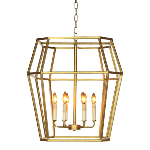 Paris 6 - Light Lantern Geometric Chandelier by ellahome ellahome
