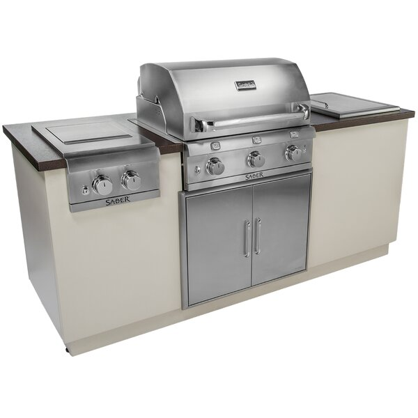 I-Series EZ 3-Burner Built-In Propane Gas and Charcoal Grill by Saber