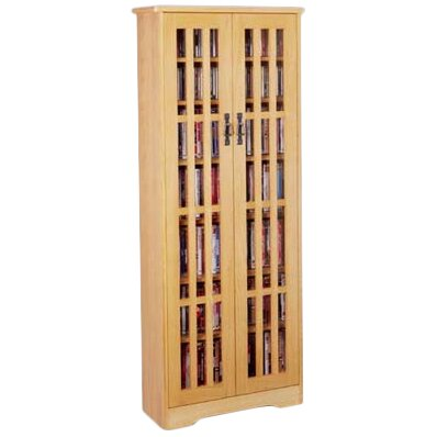 Jones Glass Door Tall Multimedia Storage Cabinet by Andover Mills