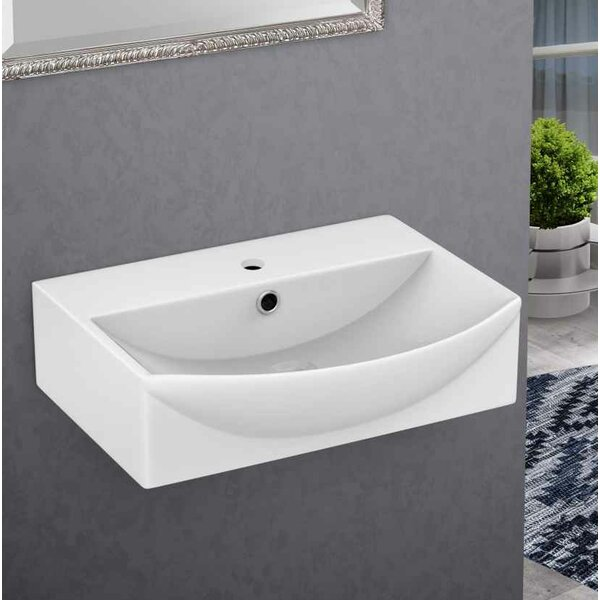 Xena Farmhouse Ceramic 19.5 Bathroom Sink with Faucet and Overflow by Royal Purple Bath Kitchen