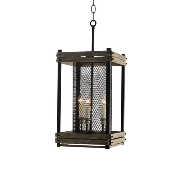 Piersiak 3 - Light Unique / Statement Rectangle / Square Chandelier by Gracie Oaks Gracie Oaks