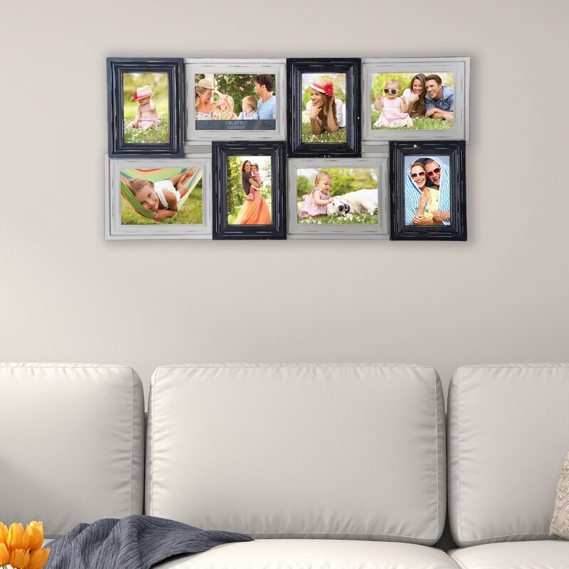 Melannco 8 Opening Wood Photo Collage Picture Frame | Wayfair
