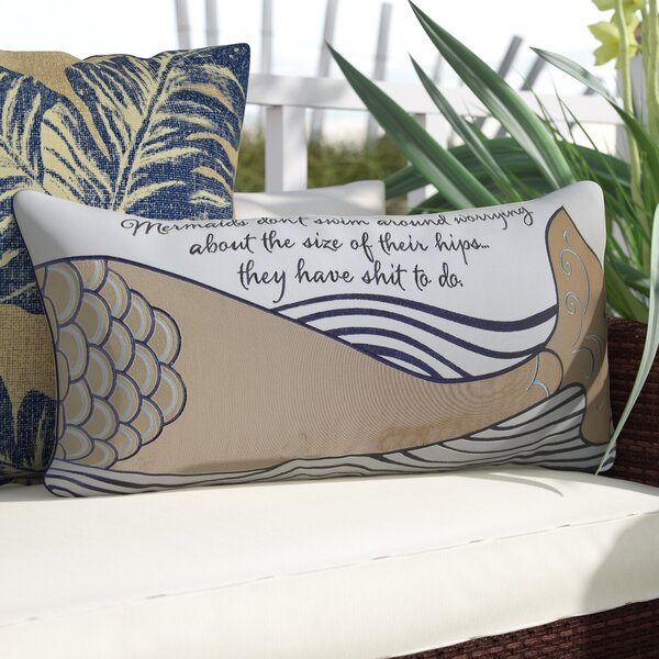 Briese Mermaid Inspiration Lumbar Pillow by Longshore Tides