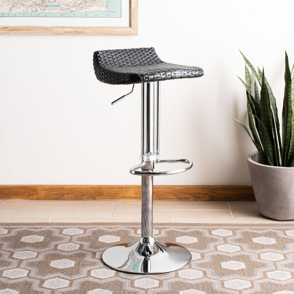 Zeba Adjustable Height Swivel Bar Stool by Bay Isle Home Bay Isle Home